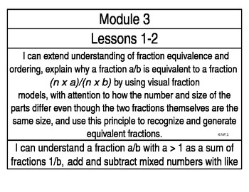 engageNY Grade 5 Math Module 3 Learning Targets