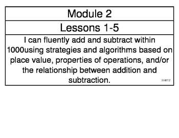 engageny Grade 3 Module 2 Learning Targets