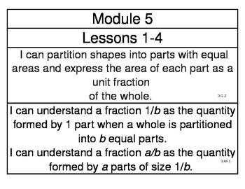 engageny Grade 3 Module 5 Learning Targets