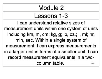 engageny Grade 4 Math Module 2 Learning Targets