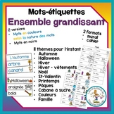 Mots-étiquettes thématiques / FRENCH words wall bundle