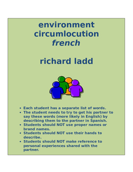 environment circumlocution FRENCH