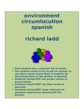 environment circumlocution SPANISH
