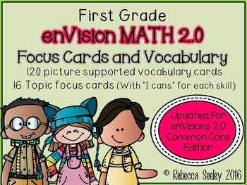 "envision 2.0 1st Grade-Focus ""I Can"" Walls and Vocabulary Words"