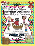 Envision Math Common Core Math  Subtraction missing part Mat worksheets n game