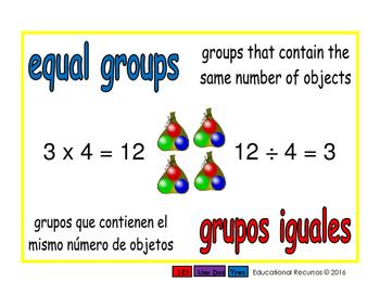 equal groups/grupos iguales prim 1-way blue/rojo