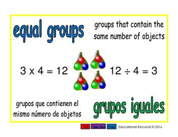 equal groups/grupos iguales prim 1-way blue/verde