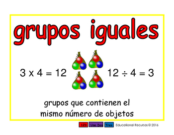 equal groups/grupos iguales prim 2-way blue/rojo