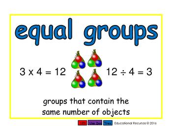 equal groups/grupos iguales prim 2-way blue/verde