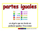 equal parts/partes iguales meas 2-way blue/rojo