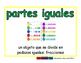 equal parts/partes iguales meas 2-way blue/verde
