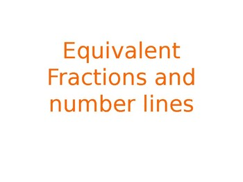 equivalent fractions and numberline