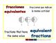 equivalent fractions/fracciones equivalentes meas 1-way blue/rojo