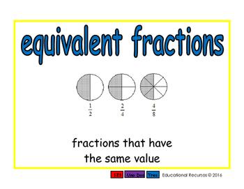 equivalent fractions/fracciones equivalentes meas 2-way blue/rojo
