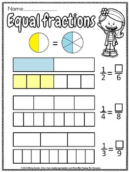 equivalent fractions worksheet(free)