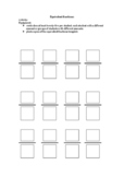 equivalent fractions - hands on concrete activity