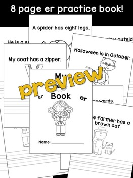 er Phoneme Book & Poster Pack with Phonics Practice
