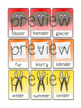Rock, Paper, Scissors Articulation Game for vocalic /r/ - Speech Intervention