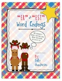 """er"" and ""est"" word endings center activity"