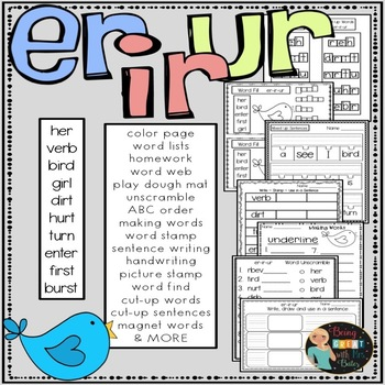 er-ir-ur  Hands-on Spelling and Phonics