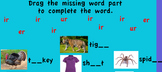 Promethean-er, ir, ur words flipchart Fruit is a Suitcase:Treasures First Grade