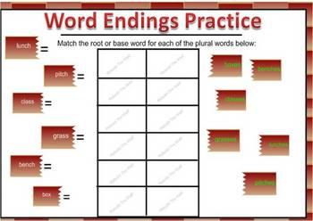 """""""es"""" Word Endings"""