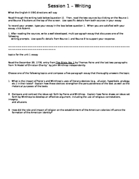 essay prompt with two sources to evaluate