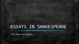 essys in Shakespeare