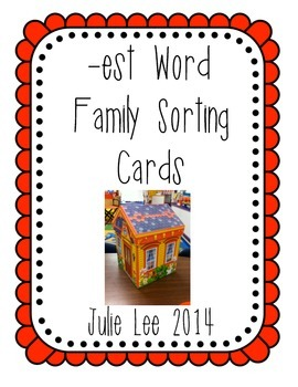 est Word Family Sorting Cards