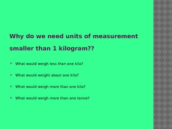 estimating different weights