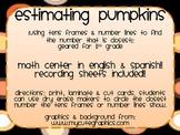 estimating pumpkins {using tens frames & number lines}