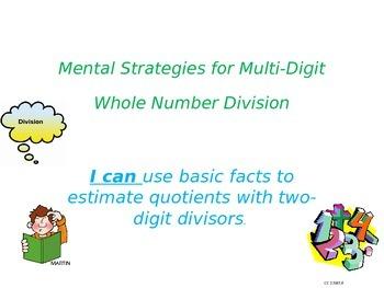 estimating to find quotients (division)