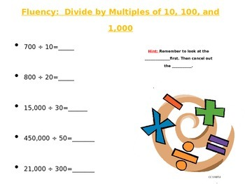 estimating to find quotients (division)