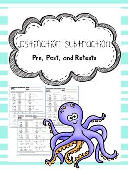 estimation subtraction pretest, posttest, and retest