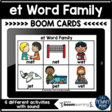 et Word Family Boom Cards™   Distance Learning