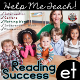 et Word Family: Intervention, Homework, Morning Work, Centers,