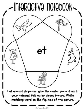 CVC Word Family 'et'  Word Work