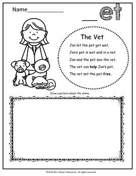 et Word Family Work CVC Words