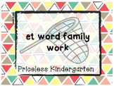 """et"" word family work"
