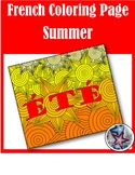 été (summer) - French Seasons Adult Coloring Pages