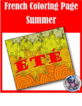 été (summer) - French Seasons Adult Coloring Pages