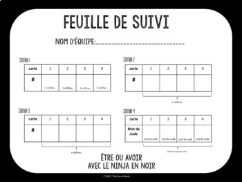 être and avoir- French Grammar Escape Room