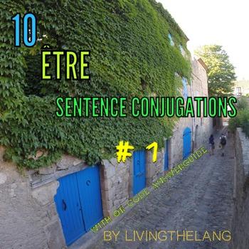être conjugations. 10 Practice Sentences # 1
