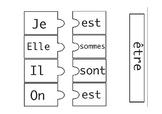 être present tense conjugation puzzle cards