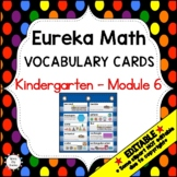 Eureka Math / Engage NY - Vocabulary Kindergarten Module 6 -Vocab Words in Black