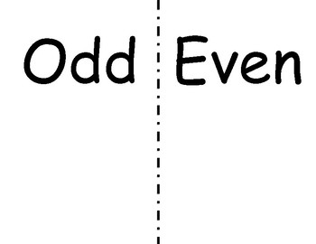 even and odds