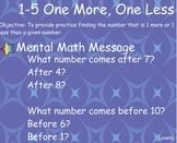 everyday Math: Grade 1: 1-5 One More, One Less
