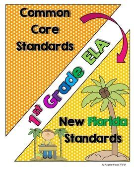 New Florida ELA Standards Compared to CCSS - 1st Grade