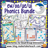ew oo ue and ui Activities - the Big Phonics Bundle