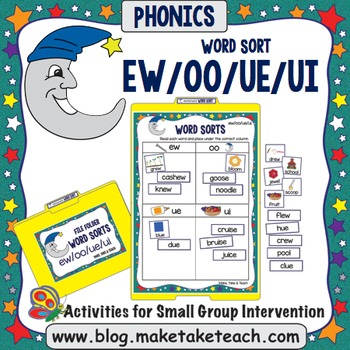 Ew, Oo, Ue Word Sorts Worksheets & Teaching Resources | TpT